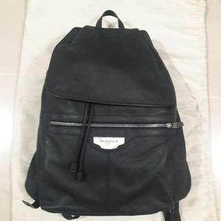 Balenciaga Black Leather Men Classic Backpack 巴黎世家 男裝 啞黑色 牛皮 皮革 背包 背囊 書包 雲石紋 袋 手袋