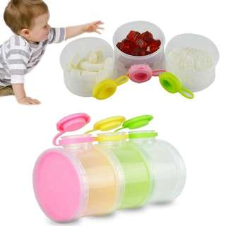 3 Layers Portable Baby Milk Powder Dispenser Boxes Container Food Storage