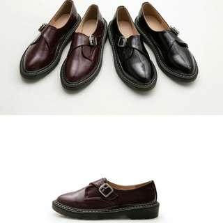 正韓🎎全新💡漆皮斜釦紳士馬汀鞋
