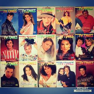 1980s Vintage TV Times for sale! You can read up on those nostalgic tv shows and the gorgeous English/ Chinese SBC or TCS stars you used to like so much then. All 30 copies for just $48 clearance offer. Great for Cafes & Restaurants. Sms 96337309.