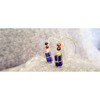 HANDMADE! Lapis Lazuli Gemstone Earrings 10071