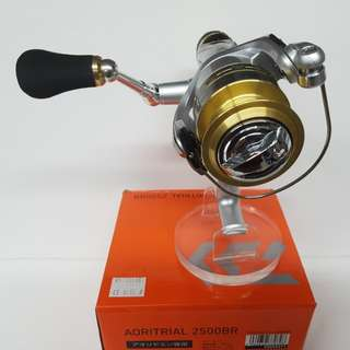 New in place!! A budget Spinning Reel for Live bait fishing. Daiwa-AORI TRIAL 2500BR/3000BR (Gear ratio=5.1.1 Max Drag=4kg)