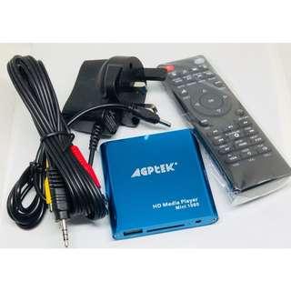 (DELIVERY) Agptek HD Media Player Mini 1080