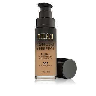 [SOLD OUT] Milani Conceal + Perfect 2-in-1 Foundation + Concealer (05A Natural Beige)