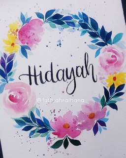 Handlettering Calligraphy Watercolour Painting