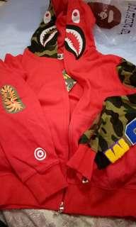 bape red hoodie