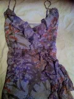 Forever New Silk Wrap Dress sz6