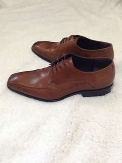 Kenneth cole mens brown leather shoes