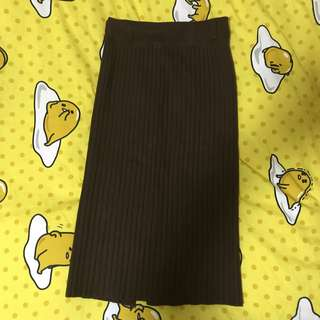 深啡色長裙
