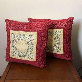 🚚 新年紅色刺繡抱枕