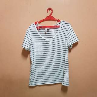 H&M Plus Size Striped Shirt