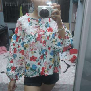 Floral Long Sleeved Top