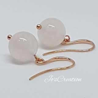 White Agate Gemstone Earrings
