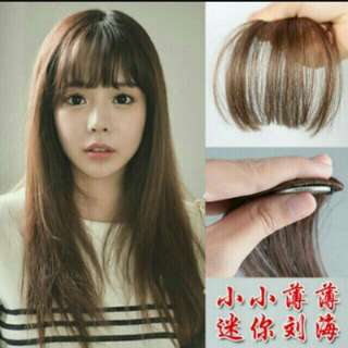 *No instock! PO Korean Air Fringe Bang Clip On Avali In 4 Colour   Waiting Time 12days After Payment Is Made   Pm If Int