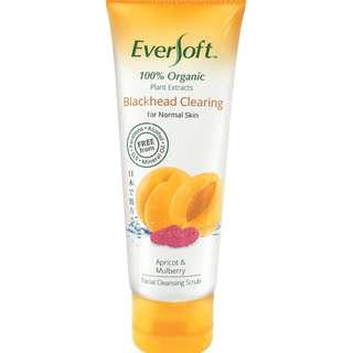 Eversoft Organic Apricot & Mulberry Facial Blackhead Cleansing Scrub 100g