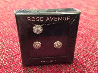 全新Rose Avenue Silver Necklace & Earrings Set