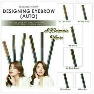 NEW The Face Shop Designing Eyebrow Pencil in Gray Brown (#2)