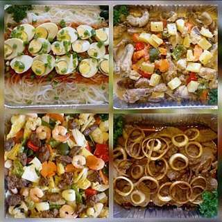 Pinoy dish boodle fight alacarte or party food delivery or pick up