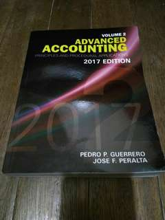 Advanced Accounting 2 2017 edition