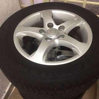 "Original Exora Rim 15"" With Tyres"