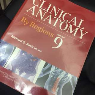 Snell's Clinical Anatomy By Regions (medical school textbook)