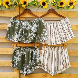 Terno Off-Shoulder Top and Dolphin Shorts
