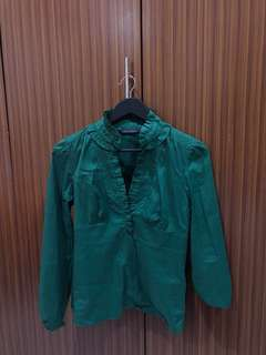 Zara green shirt trafuluc