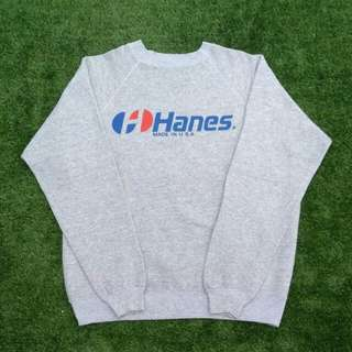 Sweater Hanes Vintage Made in USA Bahan 50:50