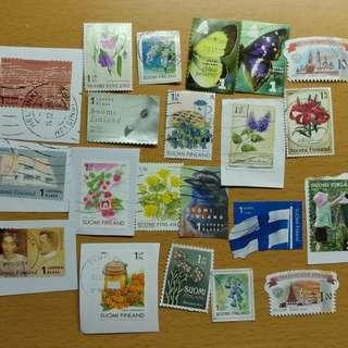 芬蘭 俄羅斯 郵票