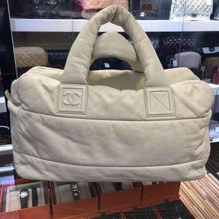 正品 88%新 Chanel Cocoon 奶白色全皮手挽上膊袋