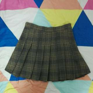 Korean Ulzzang Plaid Skirt