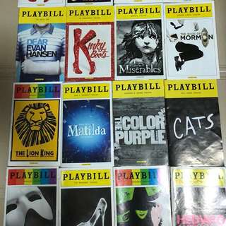 Broadway Playbill Booklets