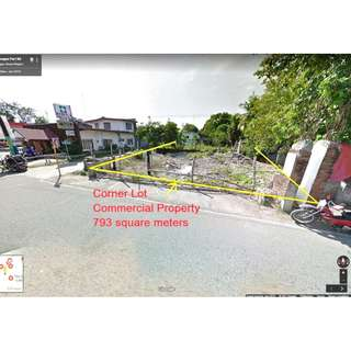 FOR SALE 793 SQM COMMERCIAL CORNER LOT IN CAGUGAO ILOCOS SUR