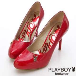 playboy金色蝴蝶高跟鞋