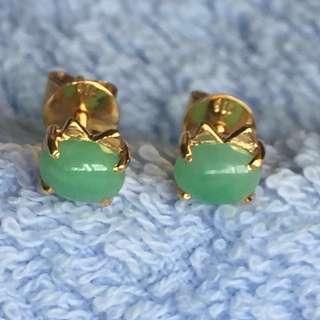 Earring Gold 916 Jade Grade A