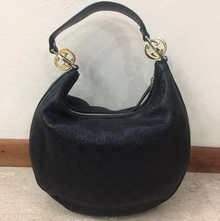Gucci hobo leather bag - full leather