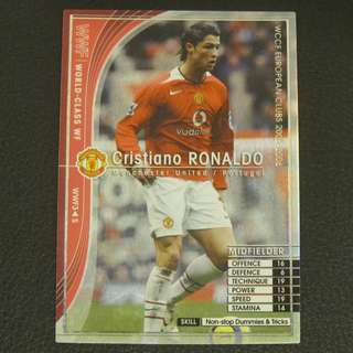 05/06 Panini WCCF Refractor Card World-Class WF - Cristiano RONALDO #Manchester United 曼聯
