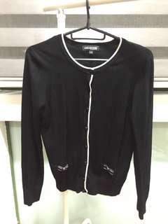 Black ribbon cardigan