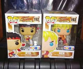[PRE-ORDER] Street Fighter Ryu and Ken Action Pose Funko Pop Bundle