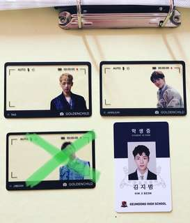 WTS Golden Child Frame Card & ID Card