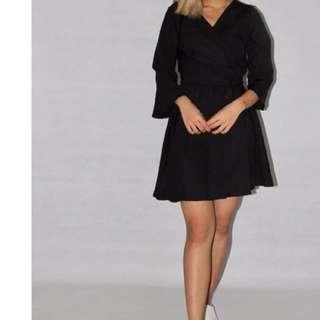 Elena Kimono Dress in BLACK