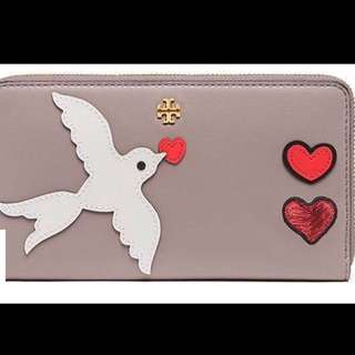 Tory Burch peace embellished zip continental wallet