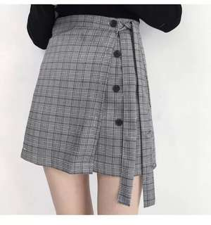 Plaid Skirt ready stock
