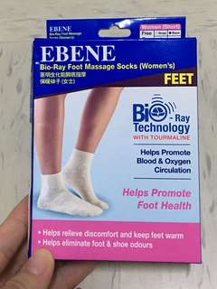 BNIB Ebene Bio Ray Foot Massage Socks - Women