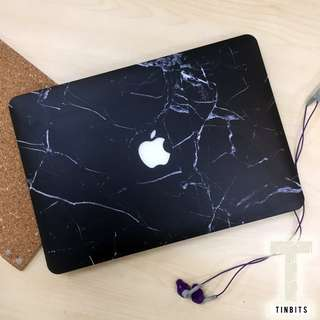 INSTOCK Classic Black Marble Matte Macbook Hard Cover Case