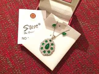 全新Taiwan Sun Jewelry Jade Jewelry Set