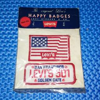 🆕 Vintage The Original Levi's Happy Badges Patches