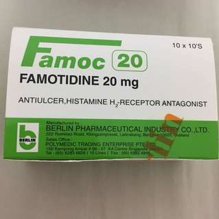 BN oral Famotidine 20mg 100 tablets