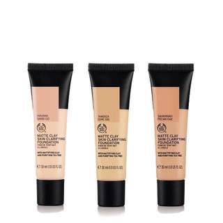 THE BODY SHOP MATTE CLAY SKIN CLARIFYING FOUNDATION IN HAVANA SAND 021