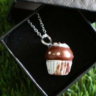 Polymer Cupcake Charm Necklace